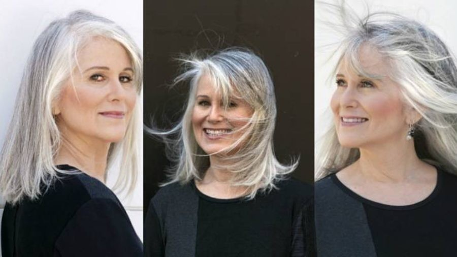 long hairstyles for older women_grey hair