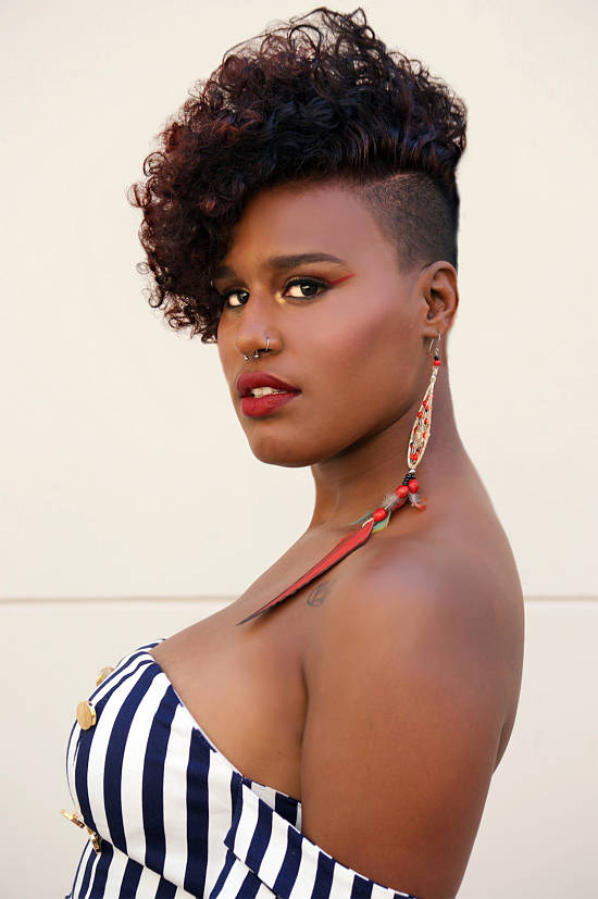 natural hairstyle mohawk shaved sides